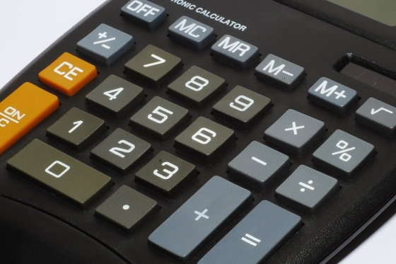 close up picture of keys on a calculator